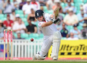 Ian Bell on his way to his first hundred (Anthony Devlin/PA)