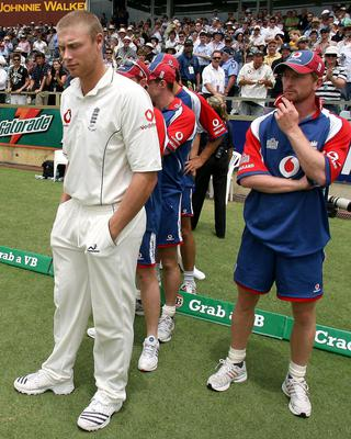 England players show their disappointment after the Ashes are lost (Gareth Copley/PA)
