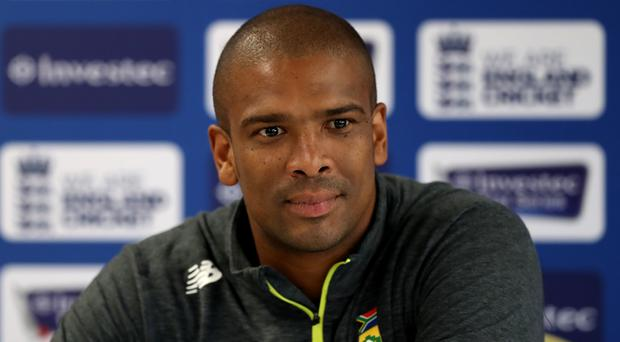 South Africa's Vernon Philander during the press conference at Emirates Old Trafford, Manchester.