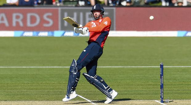 England's James Vince carried his side to victory against New Zealand (Martin Hunter/Photosport via AP)