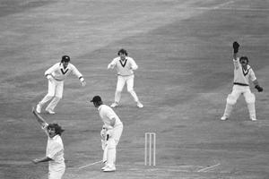 Gary Gilmour (bottom left) took six for 14 against England (PA Images)