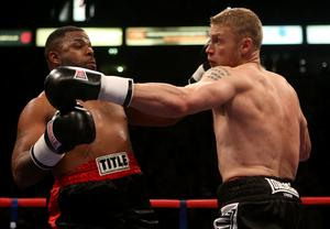 Andrew Flintoff, right, fought Richard Dawson (Dave Thompson/PA)