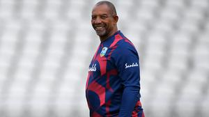 West Indies head coach Phil Simmons is ready to face England this week (Gareth Copley/Pool)