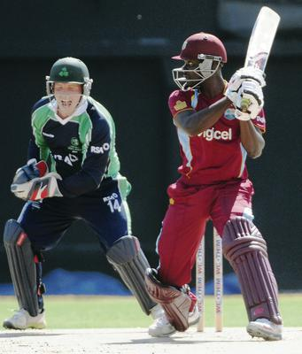 Got him: Andre Fletcher of the West Indies is bowled out last night