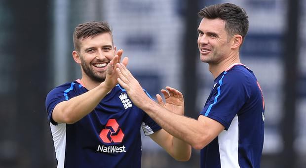 Mark Wood (left) replaces James Anderson for the third Test.