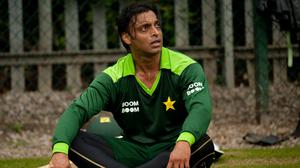 Shoaib Akhtar, pictured, and Mohammad Asif failed doping tests in the build-up to the 2006 Champions Trophy (Gareth Copley/PA)