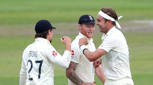 Rory Burns (left) hailed Stuart Broad (right) as the England quick closed in on 500 Test wickets (Martin Rickett/PA)