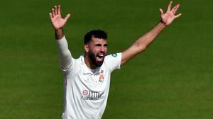 Saqib Mahmood is in the England squad for the Tests against the West Indies (PA)