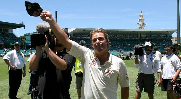 Australia's Shane Warne has auctioned his cap (Gareth Copley/PA)