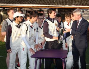 Silver lining: BRA get their hands on the Ulster Bank Schools Cup