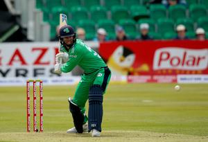 Tough task: George Dockrell top scored for Ireland Wolves in his first game of the tour