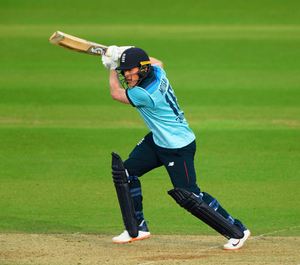 England's Eoin Morgan in action against his former colleagues