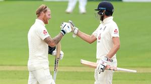 Ben Stokes (left) and Dom Sibley put England in a strong position (Jon Super/NMC Pool/PA).