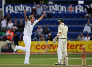 In the 2009 Ashes, Broad dismissed Michael Clarke for the first time. He went on to dismiss the Australian 11 times during his career (Nick Potts/PA)