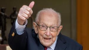 Colonel Tom Moore celebrating his 100th birthday (Ministry of Defence handout)