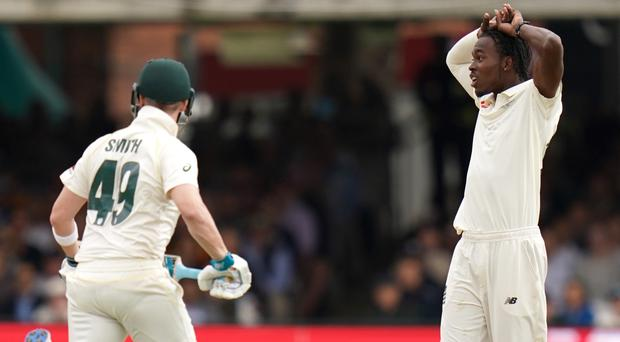 Jofra Archer, right, and Steve Smith will face off once more (John Walton/PA)