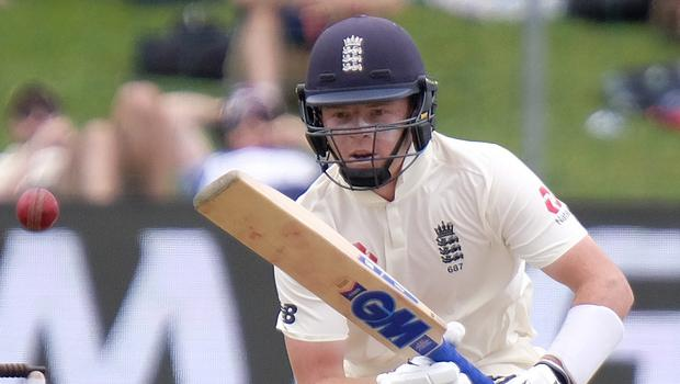 England's Ollie Pope scored his maiden Test century (Michael Sheehan/PA)