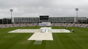 The start of day five was delayed by rain (Alastair Grant/PA).