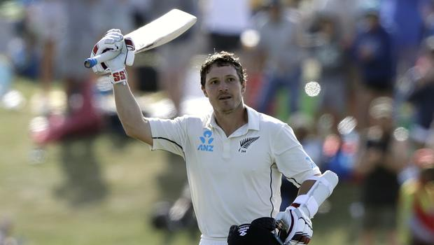 BJ Watling's hundred helped New Zealand into a first-innings lead (Mark Baker/AP)