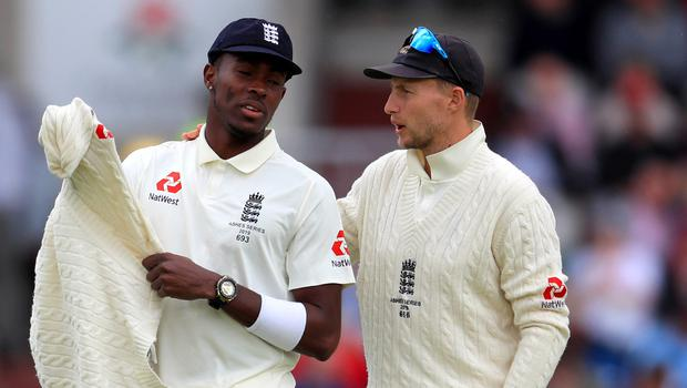 Joe Root, right, does not think he has over-bowled Jofra Archer (Mike Egerton/PA)