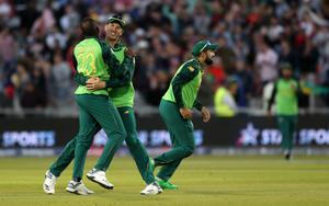 South Africa had some success to celebrate in their final game of the World Cup (David Davies/PA)