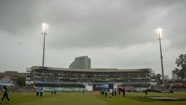England's second ODI against South Africa was washed out (Themba Hadebe/AP)