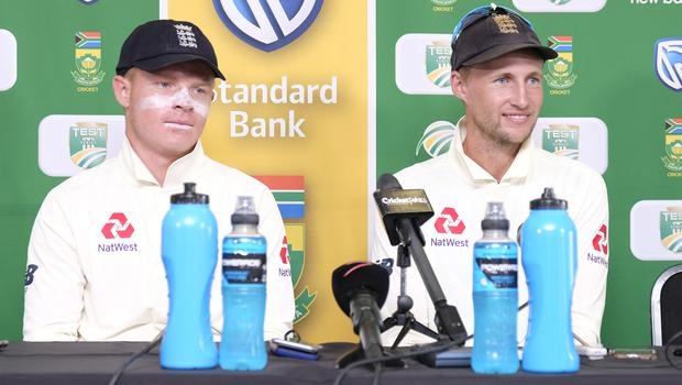 Joe Root, right, was delighted with his side's display in Port Elizabeth (Michael Sheehan/AP)