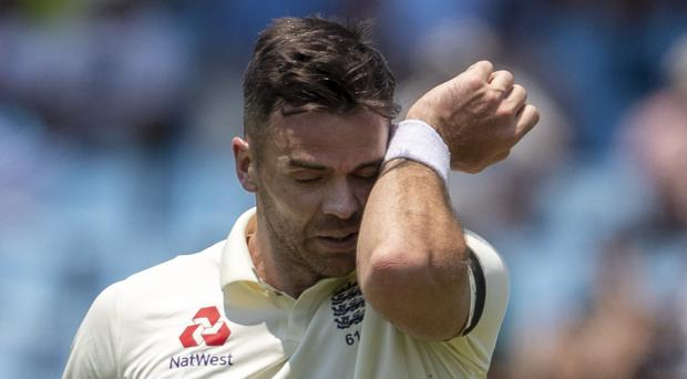 James Anderson has been ruled out of the final two Tests (Themba Hadebe/AP)