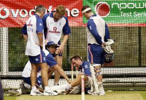 Michael Vaughan's recurring knee problems ended his hope of playing in the 2006/07 Ashes (Chris Young/PA)