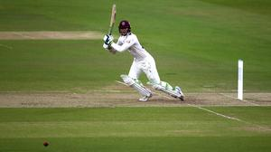 Eddie Byrom hit a half-century for Somerset (Steven Paston/PA)