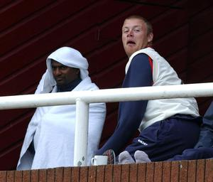 Andrew Flintoff and Muralitharan struck up an unlikely friendship while the Sri Lankan played at Lancashire (Barry Batchelor/PA)