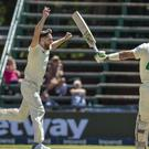 Chris Woakes edged England closer to victory at the Wanderers (Themba Hadebe/AP)