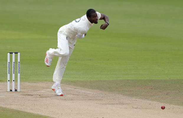 England's Jofra Archer has had surgery to remove a fragment of glass from a finger (Alastair Grant/PA)
