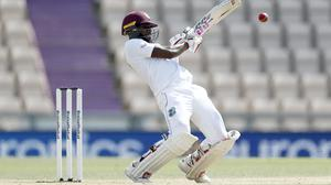 Jermaine Blackwood looks to have put West Indies on course for victory in Southampton (Adrian Dennis/NMC Pool/PA)