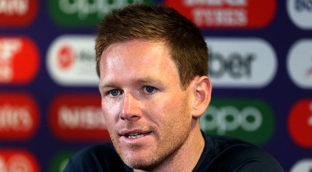 Eoin Morgan's England were beaten by New Zealand after suffering a batting collapse (Steven Paston/PA)