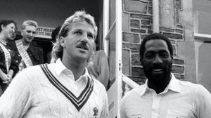 Sir Ian Botham (left) and Sir Viv Richards (right) in their playing days. (PA Archive)