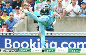 Ben Stokes got the tournament off to an explosive start with a stunning catch to dismiss South Africa's Andile Phehlukwayo at the Oval (Nigel French/PA)