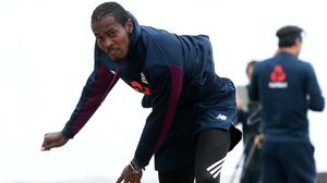 Jofra Archer has been bowling with pace and smiles in England nets (Gareth Copkey/Pool)