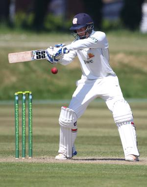 Top scorer: Knights' James McCollum on his way to 87 at Stormont yesterday