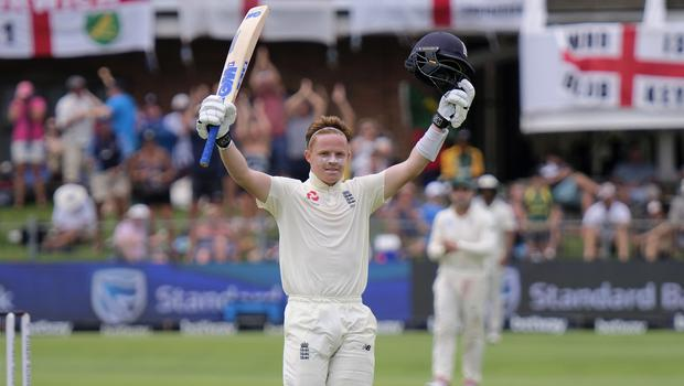Ollie Pope scored his maiden Test century against South Africa (Michael Sheehan/AP)