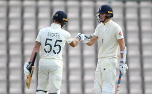 Zak Crawley and Ben Stokes put on a decent partnership (Mike Hewitt/NMC Pool/PA)