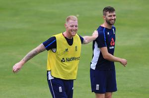 Mark Wood, right, and Ben Stokes are set to bowl at Bairstow in the nets this week (Nigel French/PA)