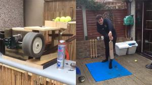 Phil Alger from Kent made a bowling machine to keep his son occupied during the coronavirus pandemic (Phil Alger)