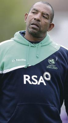 Top marks: Phil Simmons is pleased with Ireland's bowling