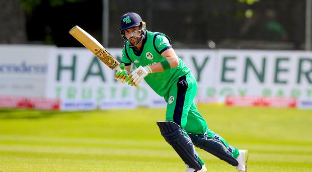 Captain's innings: Ireland's Andrew Balbirnie top scored with 71 yesterday but received little support as West Indies completed a 3-0 ODI series victory