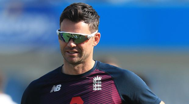 James Anderson bowled 11 overs for England on his return (Mike Egerton/PA)