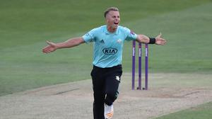 Tom Curran took a hat-trick in Surrey's win over Glamorgan (Simon Cooper/PA)