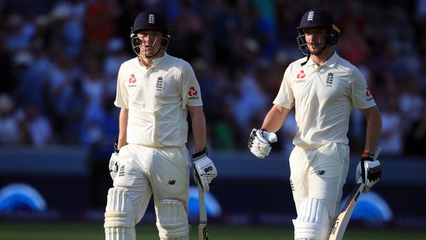 Dom Bess, left, and Jos Buttler were unable to continue their day-three heroics