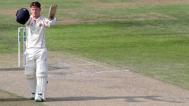 Alex Davies starred for Lancashire