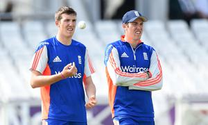 Jamie Overton, right, has been selected with brother Craig for England in the past but has yet to play for his country (Martin Rickett/PA)